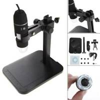 1000X 8 LED 2MP USB Digital Microscope EndoscopeMagnifier Camera + Lift Stand