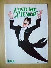 GLOBE THEATRE PROGRAMME 1986- D LAWSON,J FRANCIS,J BARRON in LEND ME A TENOR