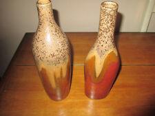 """Kirkland's Ceramic Set of 2 Beautiful Taupe Pebble Kirkland Vases 12""""T X 3.5 """"W"""