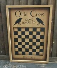 Crow Wood CHECKERBOARD*Primitive/French Country Farmhouse Decor*Game Board/Tray