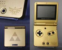Nintendo Game Boy Advance GBA SP Custom Zelda Triforce System AGS 001 MINT NEW