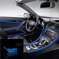 12V 2M Blue EL Wire Car Interior Decor Fluorescent Neon Strip Cold Light Tape