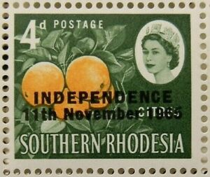 RHODESIA 1966 SG363 4d. INDEPENDENCE  11TH NOVEMBER 1965  -  MNH