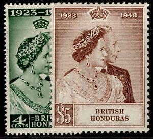 BRITISH HONDURAS GVI SG164-165, ROYAL SILVER WEDDING set, M MINT. Cat £28.
