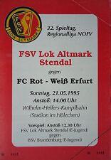 Programm 1994/95 FSV Lok Altmark Stendal - RW Erfurt
