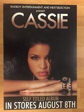 "Rare CASSIE VENTURA me&u Promo 2-sided 17"" x 25"" Poster R&B POP Sexy DIDDY 2006"