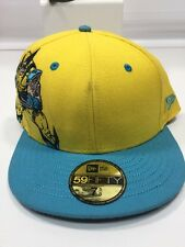 Wolverine New Era 59Fifty Yellow Fitted Hat 7 5/8 Wool Trucker Marvel 2009