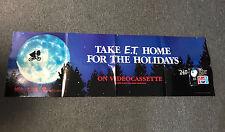 Original E.T. ET Extra Terrestrial Video Casette Release 18 x 56 Movie Poster