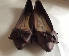 NEW Beautiful Brown Quality Leather Ballerinas Shoes By OASIS size 6UK 39EU