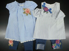 Toddler/Girls Bonnie Jean Assorted Top &Leggings 2PC Sets Sz 2T 3T 4T 4 5 6 & 6X