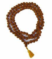 Rudraksha Japa Mala 8mm Beads- 108+1 Beads 100% Natürlich RELIGIÖSER Rosenkranz