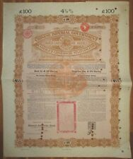 CHINA Anglo-German Chinese Imperial Government Gold Loan of 1898 £100 DAB hole p