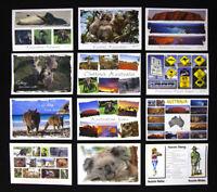 12 x Australian Postcards, Kangaroo, Koala, Sydney, Uluru, Melbourne
