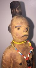 Antique Native American Wood Doll?  Primitive, Carrying Baby On Back; Intriguing