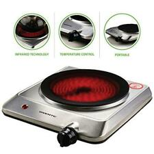 Single Burner Infrared Cooktop Ceramic Glass Electric Hot Plate Portable Cooker