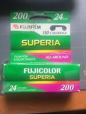Fujicolor 110 Superia 200 Color Print Film 24 Exposures Unopened