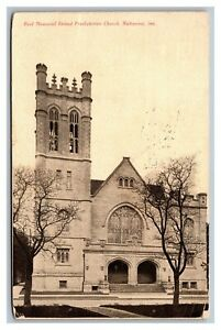 Richmond, Indiana, Reid Memorial United Presbyterian Church Postcard Posted 1909