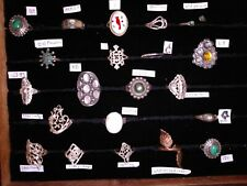 Ring lot of 21, includes a Linda Yazzi and a Begay