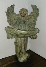 """Garden Cherub Angel Wall Mount Bird Feeder 9 1/2"""" Sculpture"""