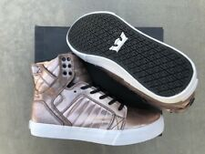 NEW SUPRA SKYTOP ROSE GOLD METALIC WHITE SKATEBOARD SURF SNOW RAP SPORTS SHOES 9