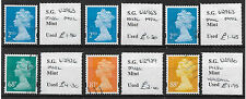 2012/14 G.B. 6 Different fine used Security Machins all identified and OFF paper