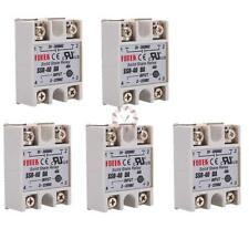 5pcs SSR-40DA 40A DC 3-32V AC 24-80V Solid State Relay Module for Arduino New