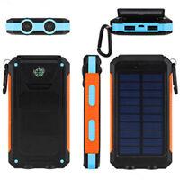 Solar Mobile Power Bank 300000mAh Portable Phone Charger External Backup Battery