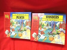 I.Q. Games Famous Places + Wonders of the World Educational Fun New