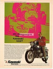 1968 Kawasaki Avenger 350cc  Motorcycle Parnelli Jones Vtg Print Ad