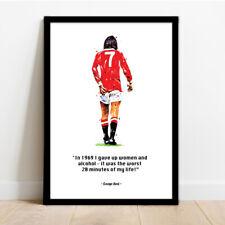 More details for manchester united - man utd - george best quote - framed art print