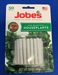 30 ct pack Jobe's Fertilizer Food Spikes Indoor Outdoor Houseplants Garden Pots