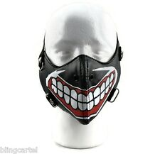 Motorcycle Big Smile Teeth Gothic Punk Bicycle Bike Biker Half Face Black Mask