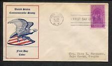 1939 Eagle & Shield Inauguration of George Washington New York FDC US Stamp #854