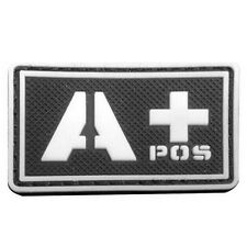 A+ POS USA ARMY BLOOD GROUP BLOOD TYPE MORALE BADGE 3D PVC tactical PATCH