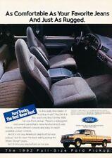 1992 Ford F-150  Pickup Truck Original Advertisement Print Art Car Ad J923