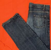 LAND'S  END ... Iron Knee ... 100% Cotton Denim Blue Jeans ... Husky Size 18H