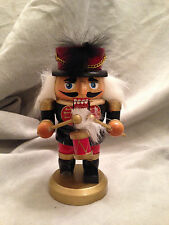 "Drummer Nutcracker Small Wooden Christmas Holiday Decoration 5"" Multi-Colored"