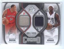 MARION, Raptors, HOWARD, Mavericks 09-10 SP Game Used COMBO JERSEY #/499