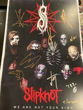 Slipknot Signed Vip Poster
