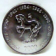 SOMALIA HORSE CHINESE ZODIAC BIRTHDAY 2000 Copper-Nickel COIN Uncirculated
