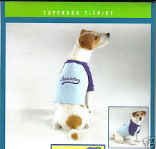 Pet Dog Canine Clothes Superdog T-Shirt Small