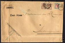 Netherlands 1906 NVPH 64(pair)+74 on servicecover F