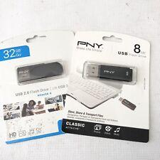 PNY Attache 8GB & 32GB USB 2.0 Flash Drives