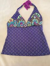 Athleta Tankini Swimsuit Top Small Womens Paisley Halter