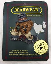 Vintage Boyds Bears And Friends Bearwear Collectible Resin Brooch Pin Gift