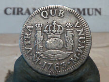 CIRA(68)(17) - MEXIQUE - 1/2 REAL - ARGENT - 1762 - RARE & QUALITE TB+ !