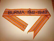 rst102 WW 2 US Army Flag Streamer Burma 1941-1942