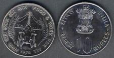 INDIA 10 Rupees 1976 B FAO  PROOF