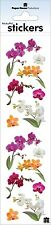 Stickers Crafts Paper House Slim Colorful Orchids Repeats Flowers Purple White