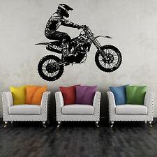 Wandtattoo Moto Cross #02 65x58 cm Motorrad Motorsport Bike Wandaufkleber Sport